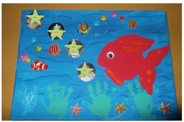 petits poissons dans l'eau